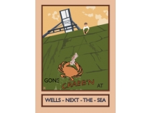 crabbing, crabs, wells, bryan harford, posters, railway posters, norfolk