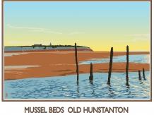 mussels,old hunstanton, norfolk, posters, railway posters, bryan harford