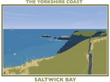 yorkshire coast, posters, railway posters, bryan harford