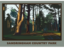 sandringham, royal family, posters, railway posters, norfolk