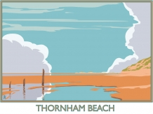 Thornham, norfolk, Railway posters, posters, Bryan Harford, Beach, North Norfolk,