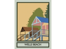 Wells beach, Norfolk, Railway posters, Bryan Harford