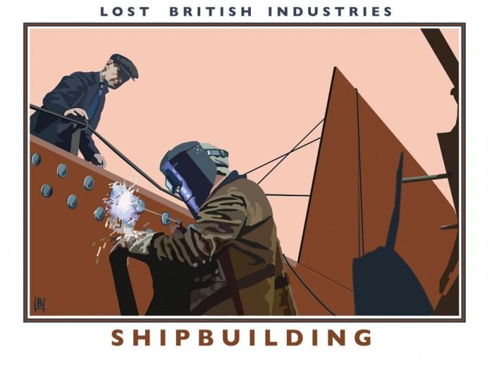 posters, railway posters, norfolk, bryan harford, shipbuilding