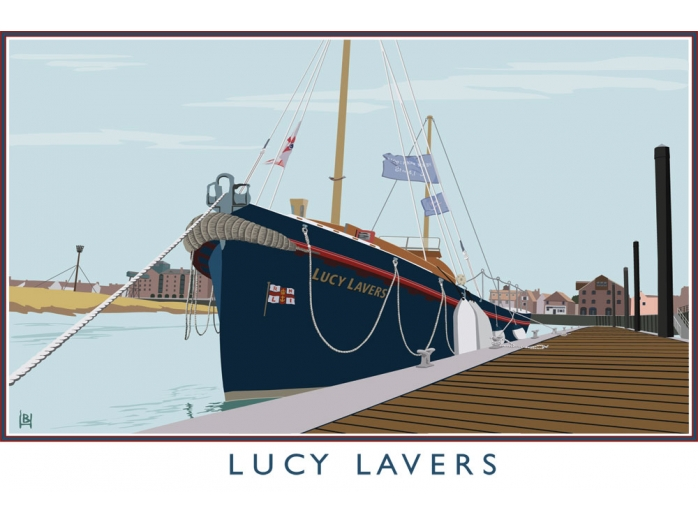 norfolk, railway posters, posters, Lucy Lavers, Rescue wooden boats, Bryan Harford, North Norfolk