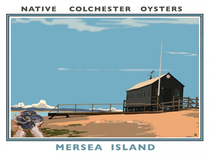 Oysters, Essex, Mersea Island, Railway posters, Richard Haward,slow food