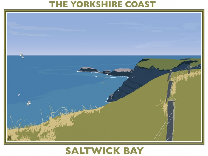 yorkshire coast, posters, railway posters, bryan harford