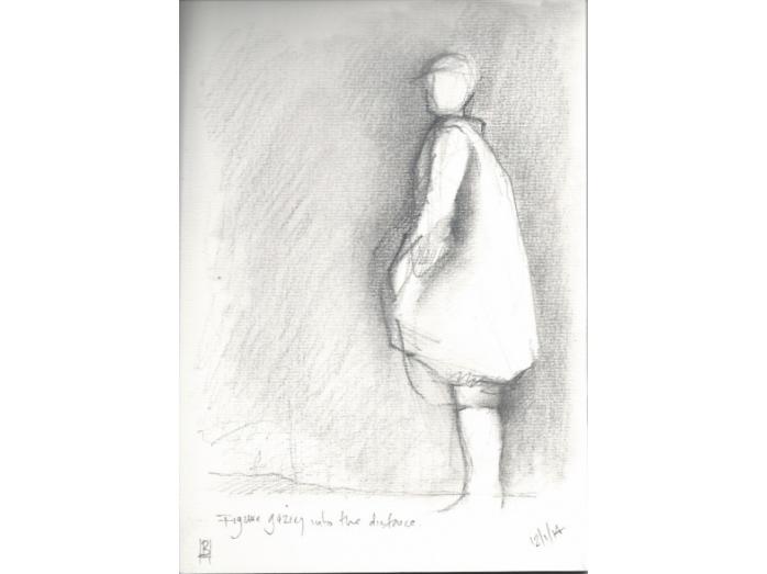 graphite, paper, distance, figure