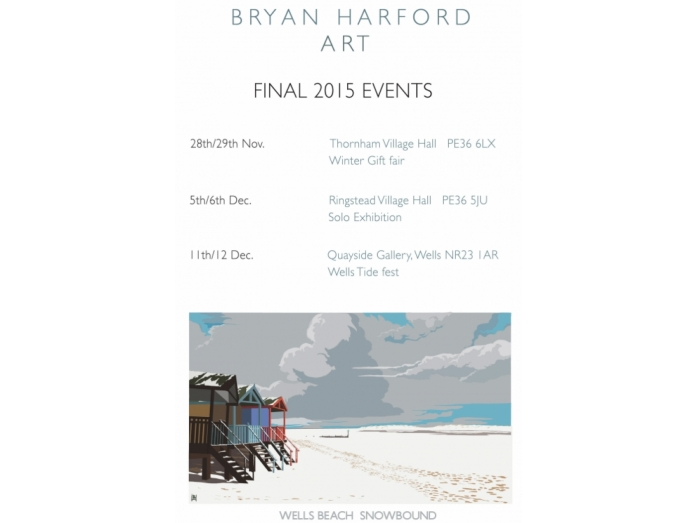 railway posters, posters, Norfolk, Bryan Harford, Bryan harford art