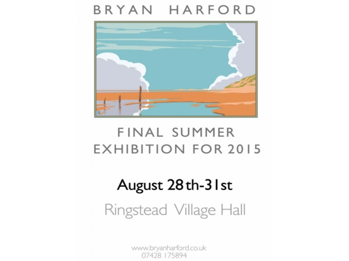 bryan harford, posters, railway posters, art deco, Norfolk, Ringstead, North Norfolk