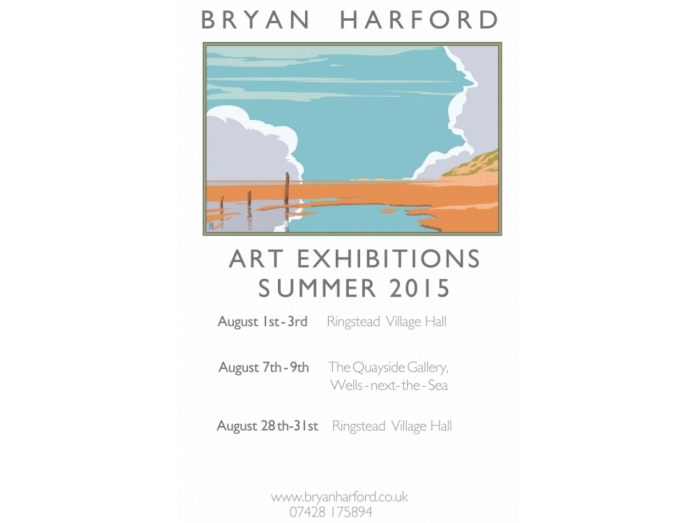 Bryan Harford,Exhibitions, Ringstead, railway posters, posters, Norfolk, North Norfolk
