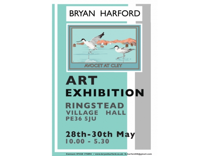 posters, railway posters, Norfolk, Bryan Harford, Art