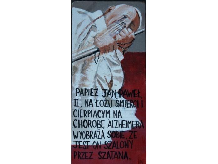Pope john paul 2, Acrylic painting ,Religion, Catholicism, Bryan Harford